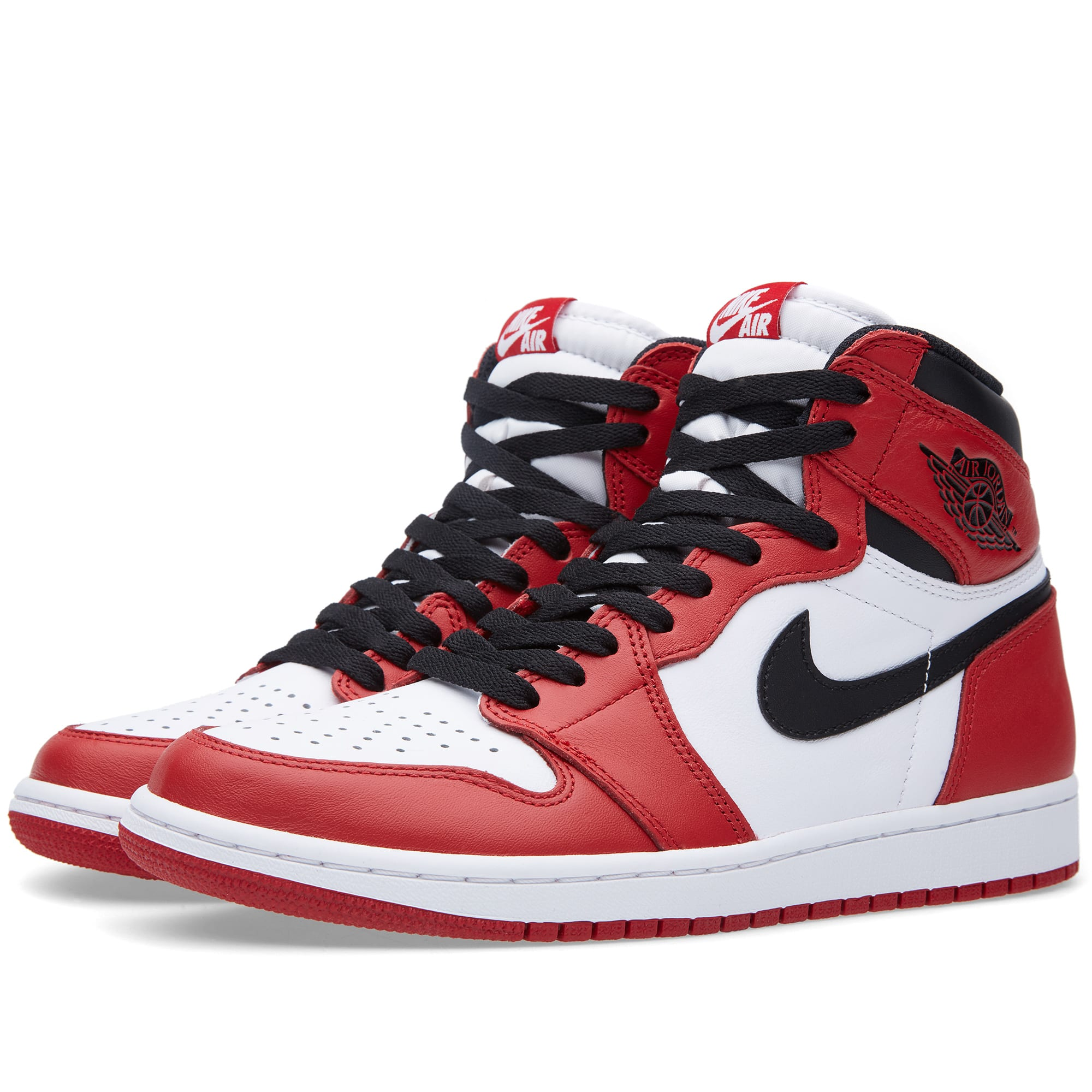 nike air jordan 1 retro high og 39 varsity red 39 white. Black Bedroom Furniture Sets. Home Design Ideas