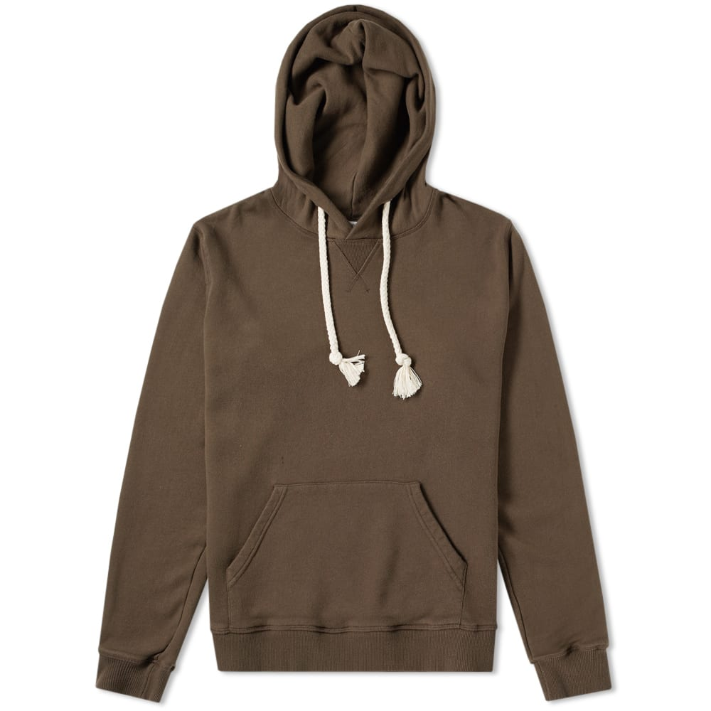 Jw Anderson - Logo Embroidered Hooded Cotton Sweater - Mens - Khaki, Brown