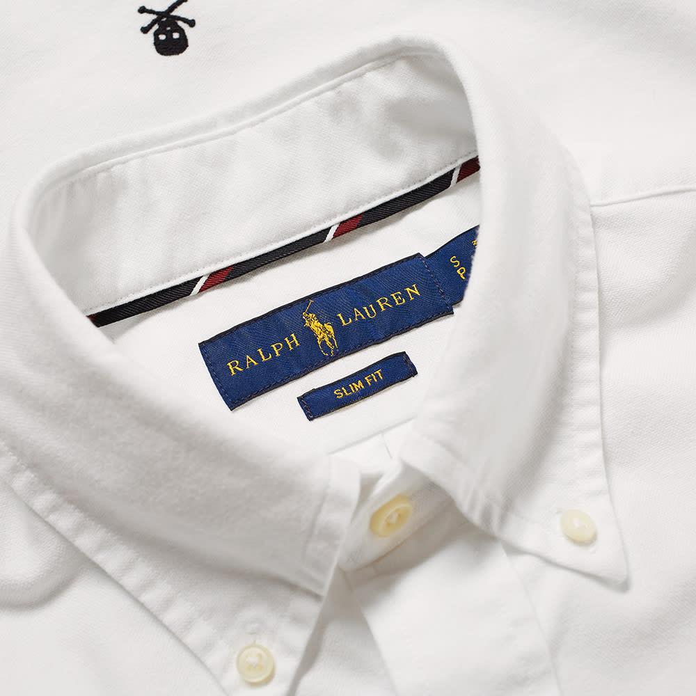 eb53f7535 Polo Ralph Lauren Short Sleeve Skull & Crossbones Embroidered Shirt White |  END.