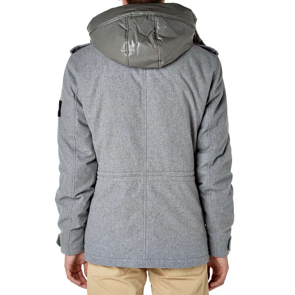 dc60519012eb Stone Island Wool Blend Ice Jacket Ice Grey