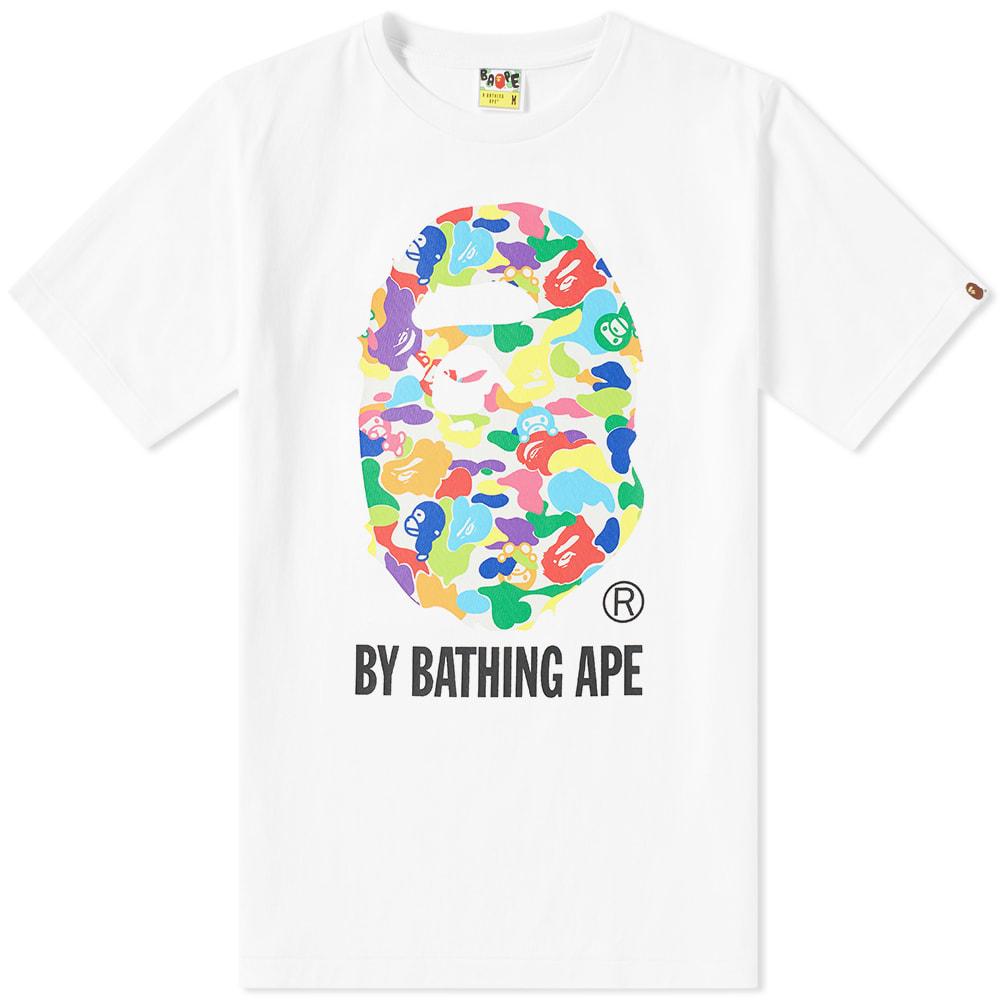c4a60b74 A Bathing Ape Milo ABC Multi By Bathing Tee White | END.