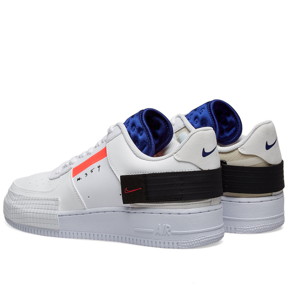 Nike Air Force 1 Low AF 1 Type Summit WhiteRed Black Online CI0054 100