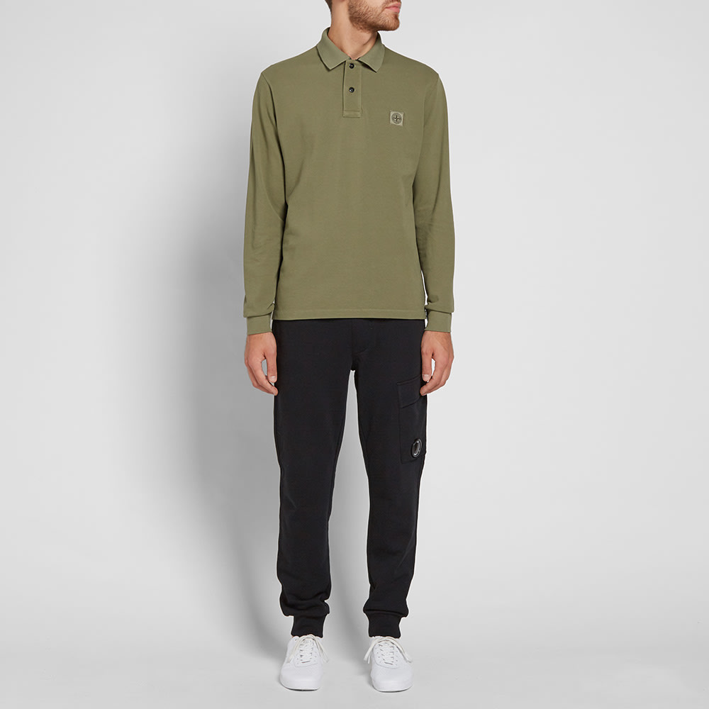 99727f94aaed Stone Island Long Sleeve Regular Fit Polo Sage Green | END.