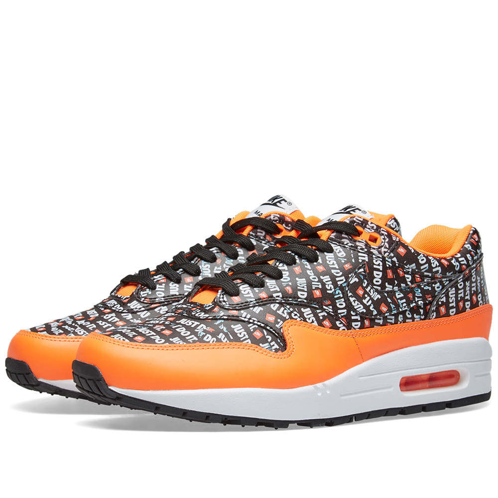 innovative design 81bbf 8d5cf Nike Air Max 1 Premium Black, Orange   White   END.