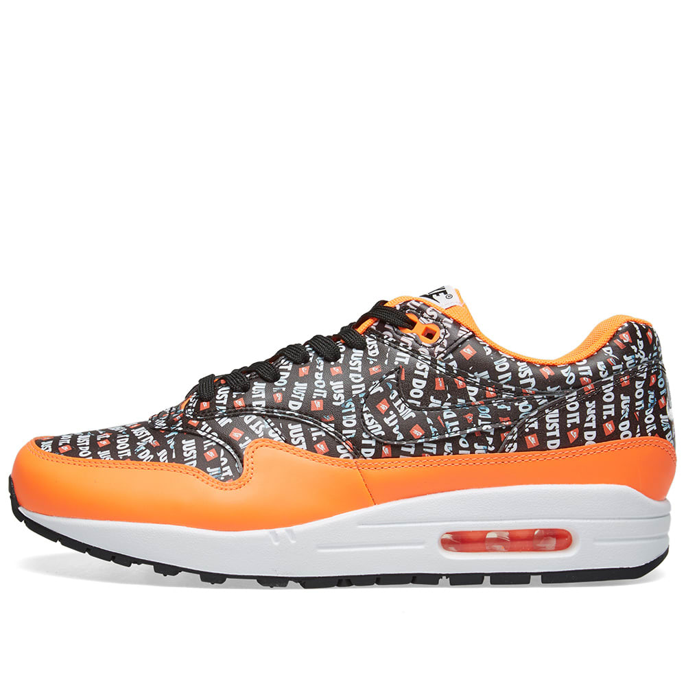 innovative design 12eb5 2a2db Nike Air Max 1 Premium Black, Orange   White   END.