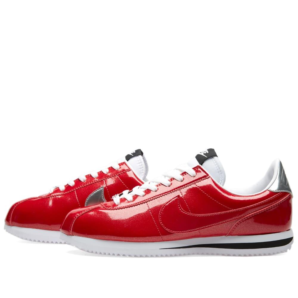 97752aade41e7 Nike Cortez Basic Premium QS Gym Red, White & Silver | END.