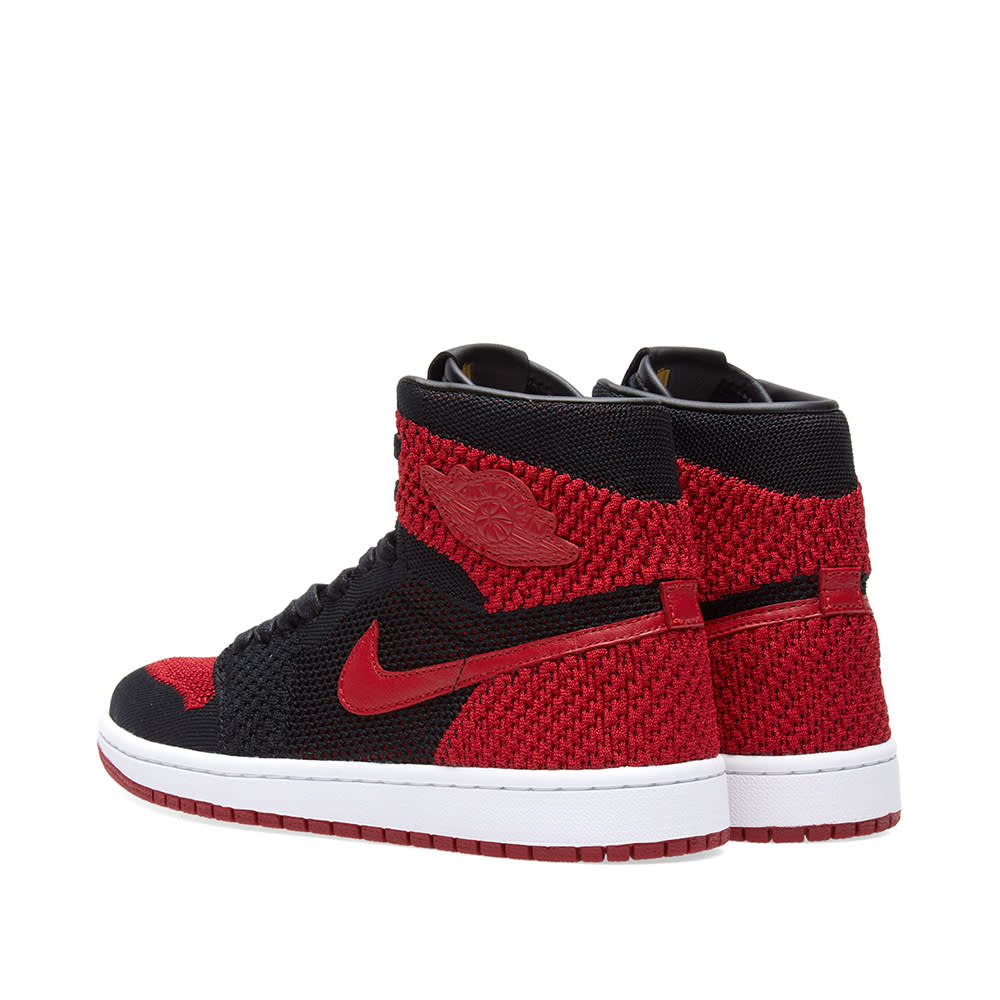 best website b434b 2349c Nike Zoom Air Jordan 1 Retro High Flyknit GS Black, Varsity Red   White    END.