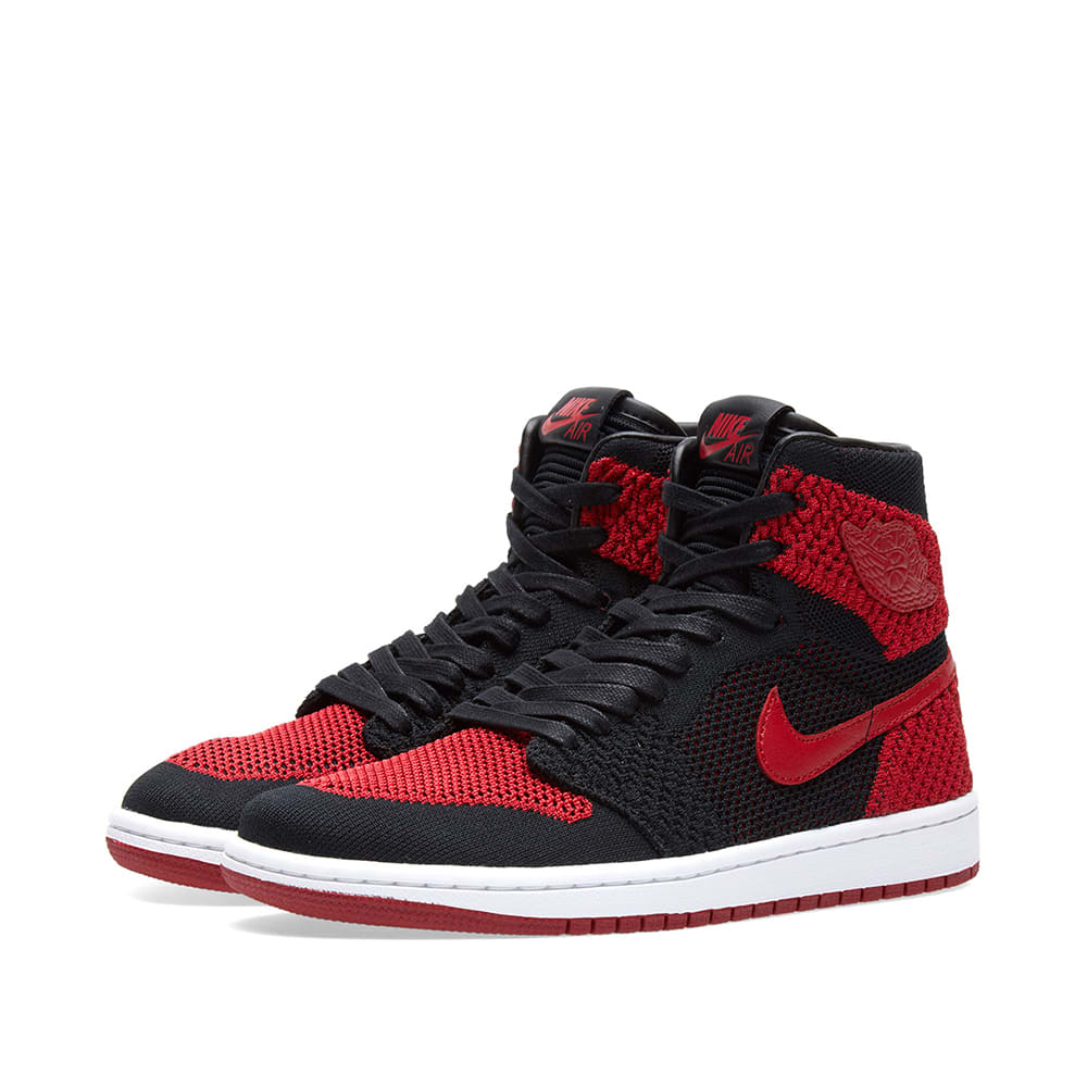 d6b13f2feb90 Nike Zoom Air Jordan 1 Retro High Flyknit GS Black
