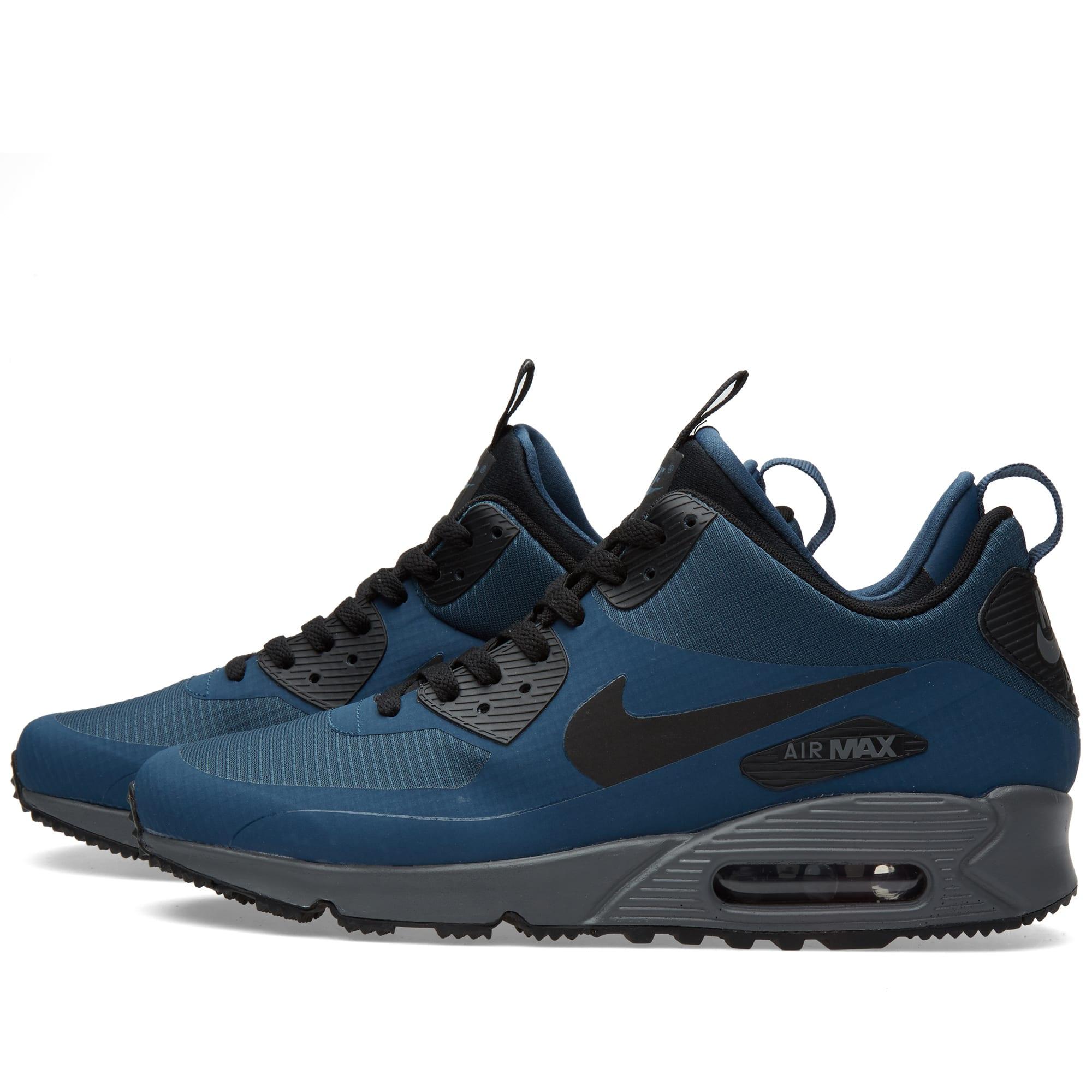 reputable site fd54d 0bef0 Nike Air Max 90 Mid Winter Squadron Blue   Black   END.