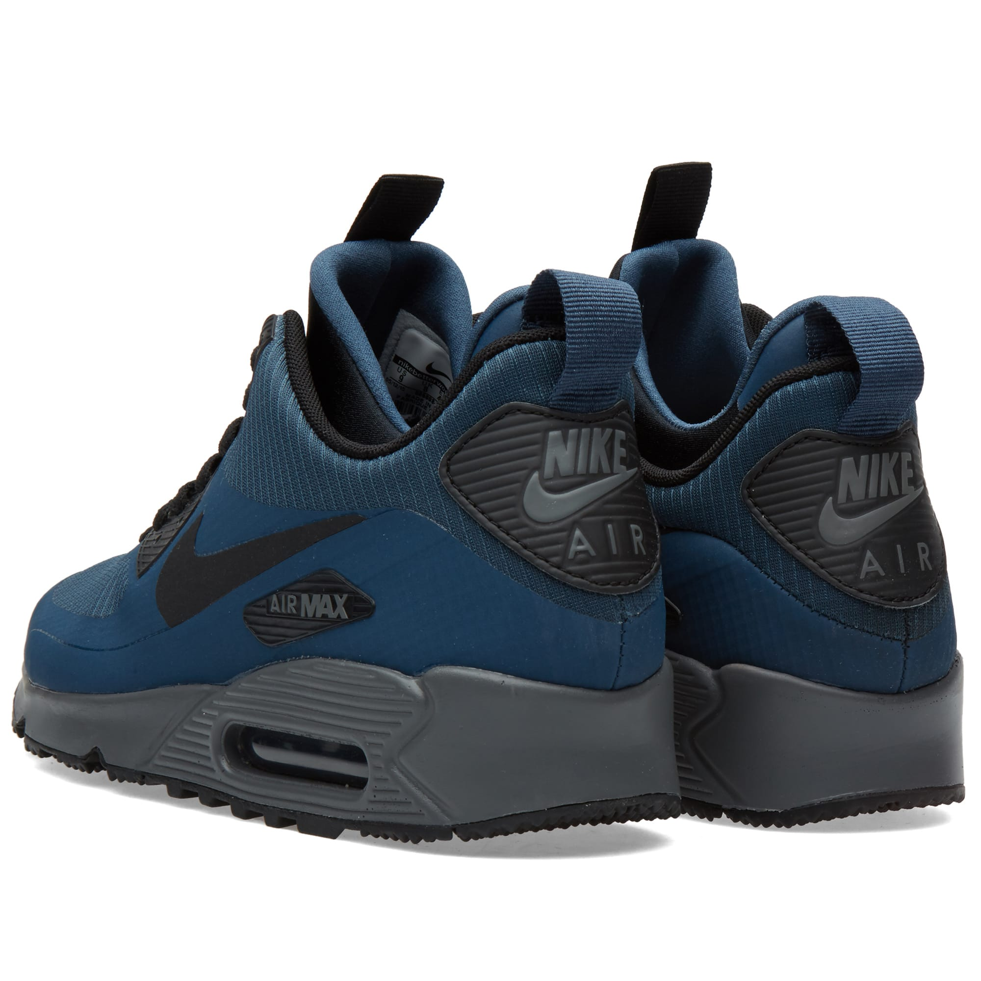 nike air max 90 mid winter squadron blue black. Black Bedroom Furniture Sets. Home Design Ideas