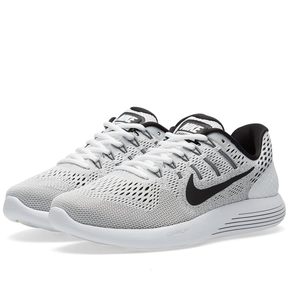 huge selection of 92e3f ef37d Nike Lunarglide 8 White, Black   Wolf Grey   END.