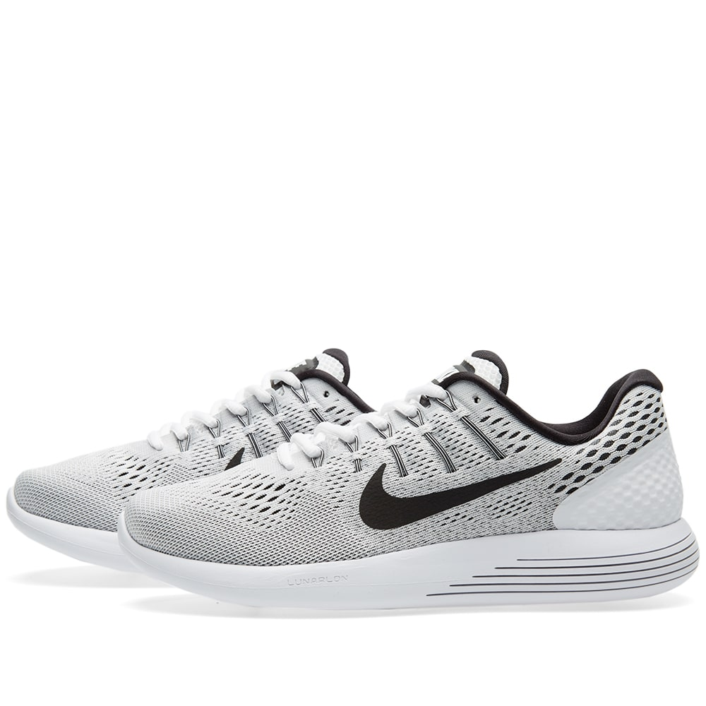 huge selection of 6691f a2fc1 Nike Lunarglide 8 White, Black   Wolf Grey   END.