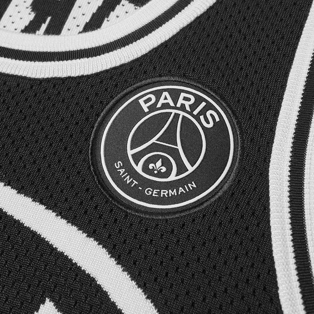 74e6daaf493 Jordan x Paris Saint-Germain Flight Jersey 23 Black   White