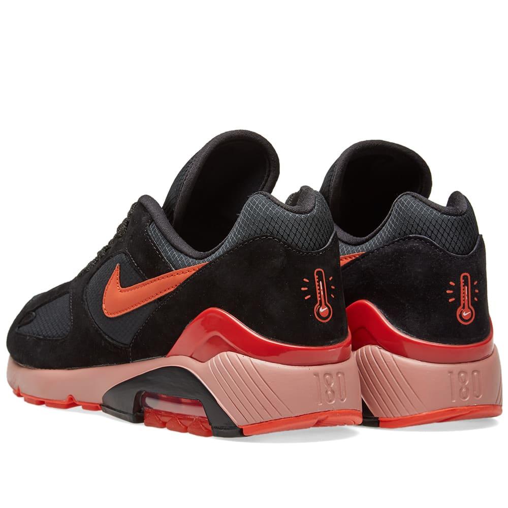 a7d9bef45ced35 Nike Air Max 180 Black   Team Orange