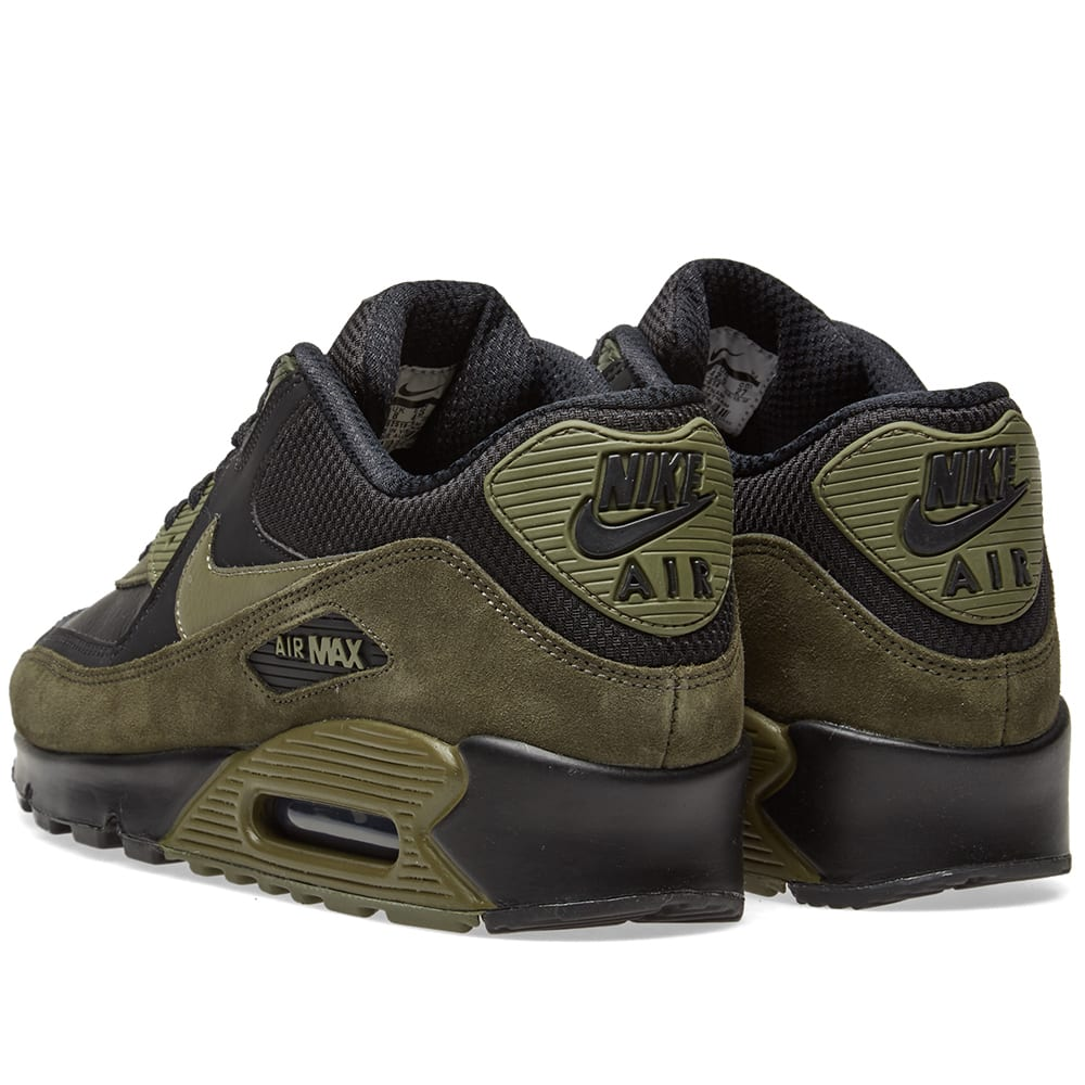 promo code 4cafb 438f4 Nike Air Max 90 Leather Black, Olive   Sequoia   END.