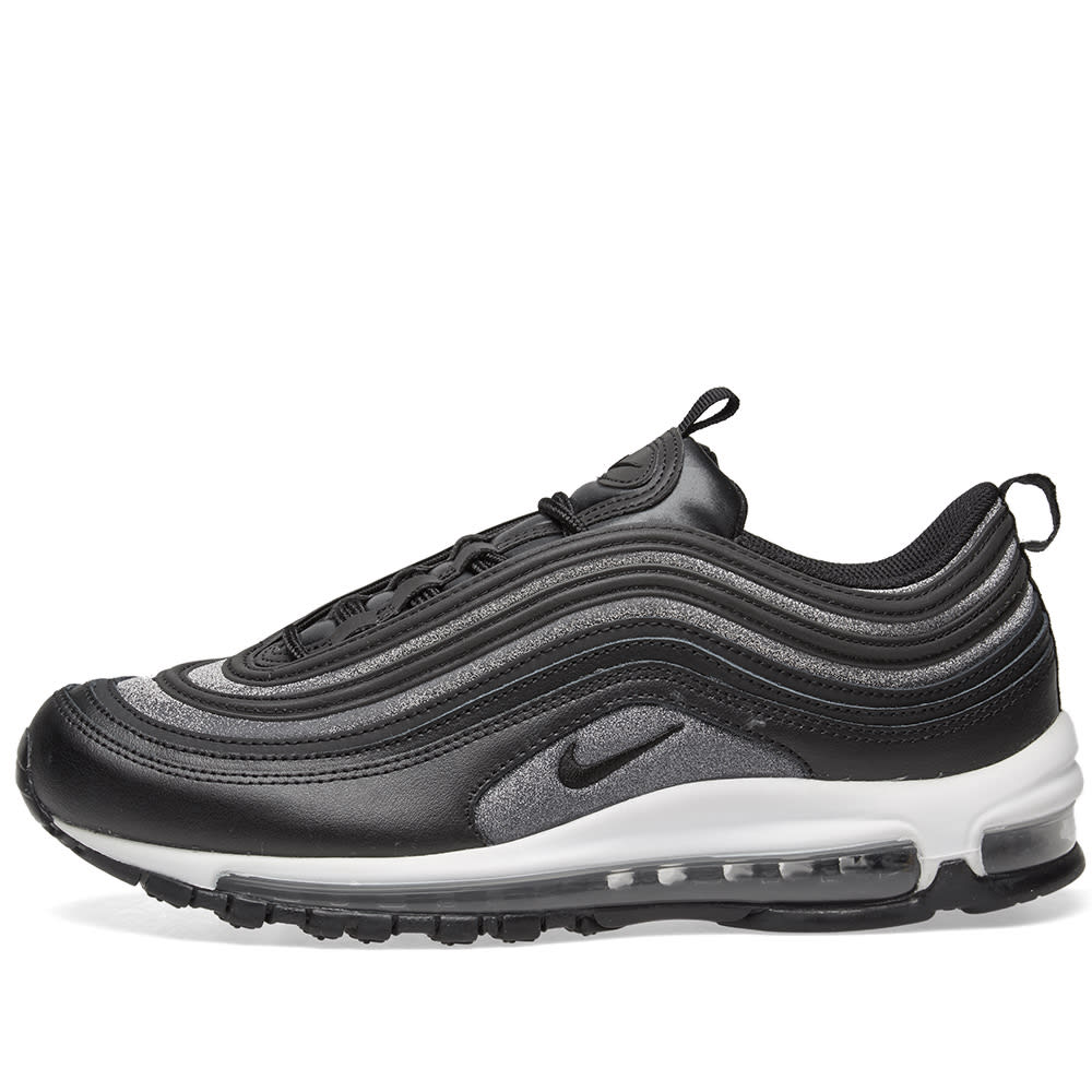 Nike Air Max 97 Womens Trainers UK 6 EU 40 Black Glitter At0071 002