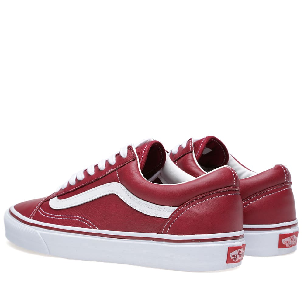vans old skool leather tibetan red. Black Bedroom Furniture Sets. Home Design Ideas