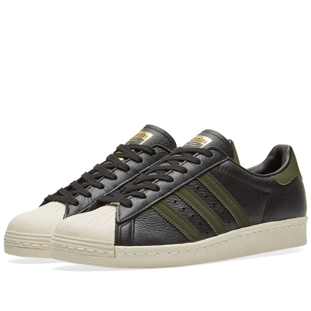 sports shoes 1ce49 f7ba6 Adidas Superstar 80s Core Black   Night Cargo   END.