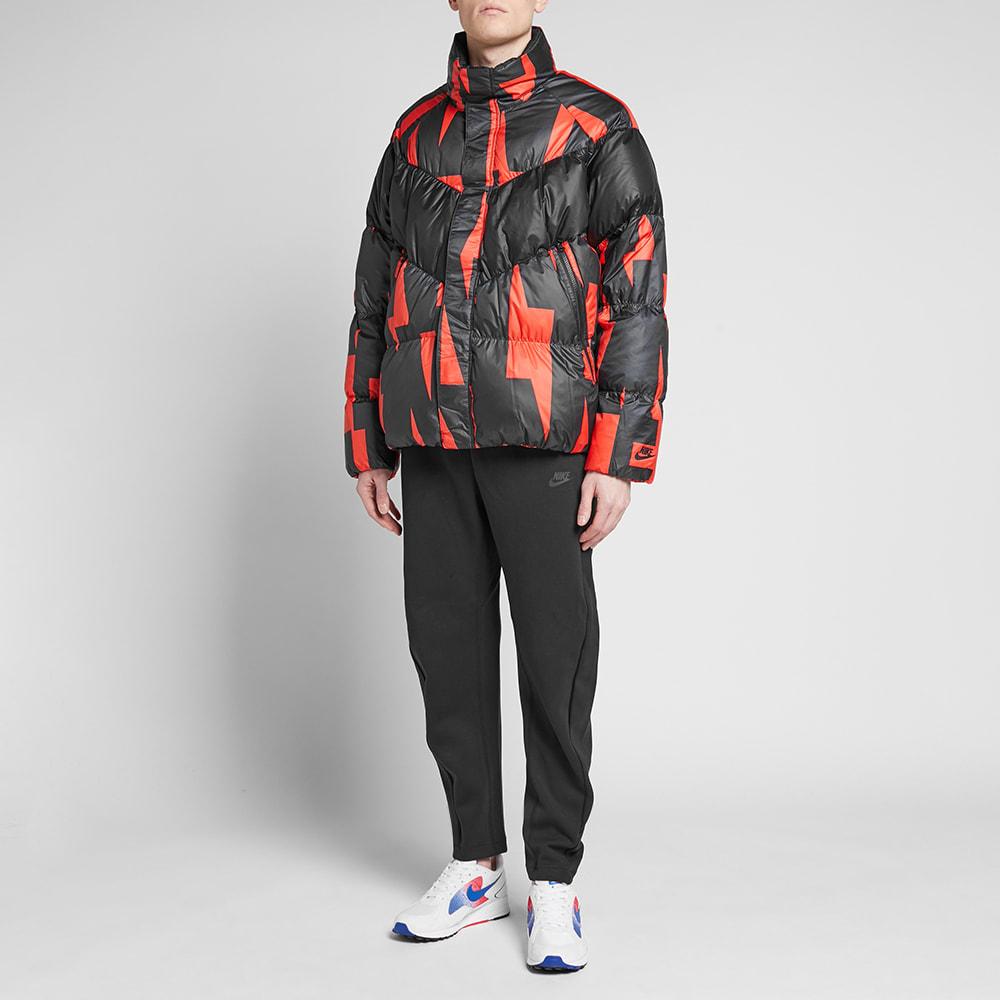 764fd4c8f5d7 Nike Print Down Jacket Habanero Red   Black