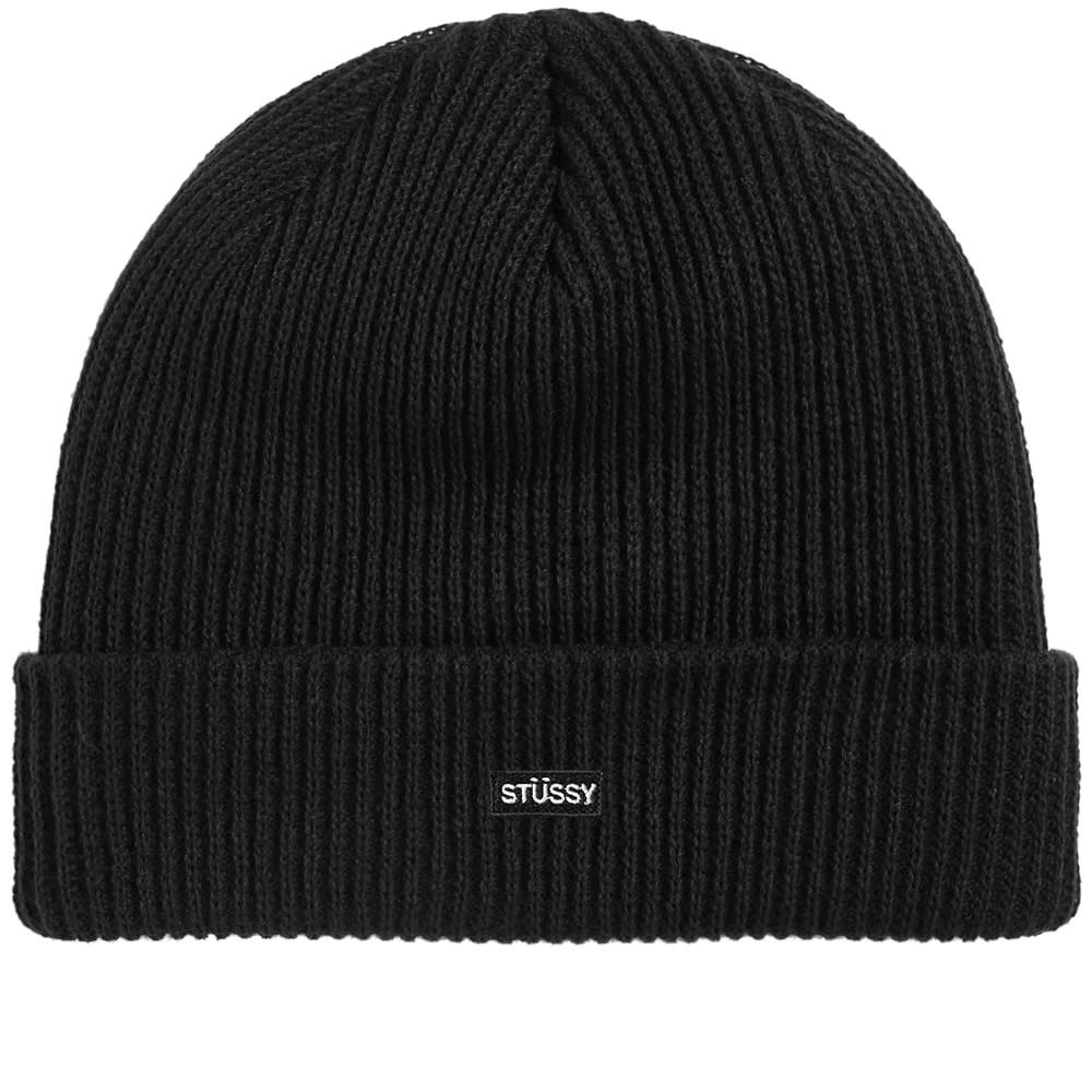 29a79614262 Stussy Small Patch Watchcap Beanie In Black