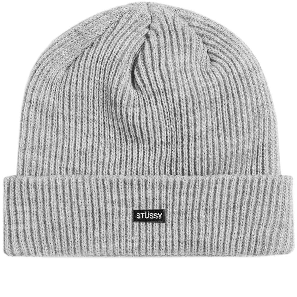 76cd69cf63366 Stussy Small Patch Watchcap Beanie Grey Heather