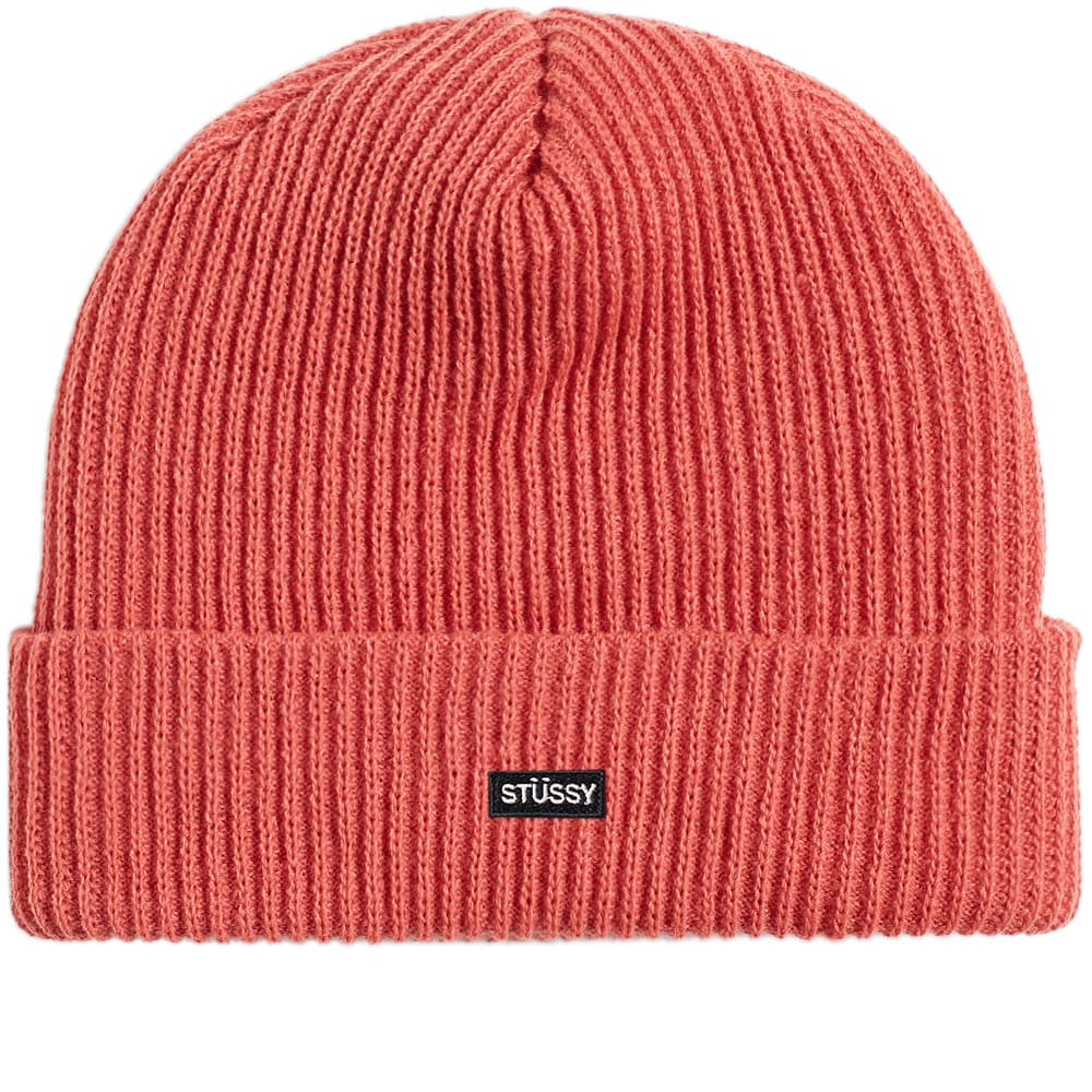 36138afc158d4 Stussy Small Patch Watchcap Beanie Rose