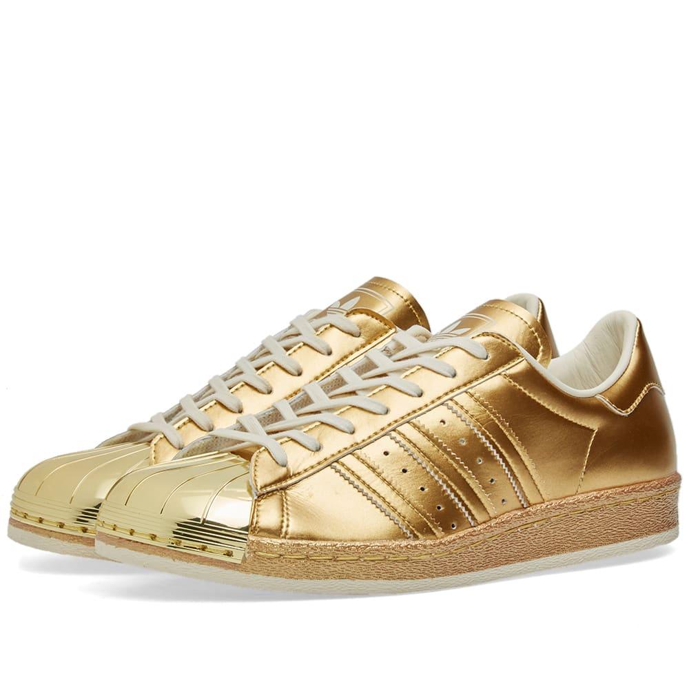 adidas superstar 80s 39 metallic 39 gold off white. Black Bedroom Furniture Sets. Home Design Ideas