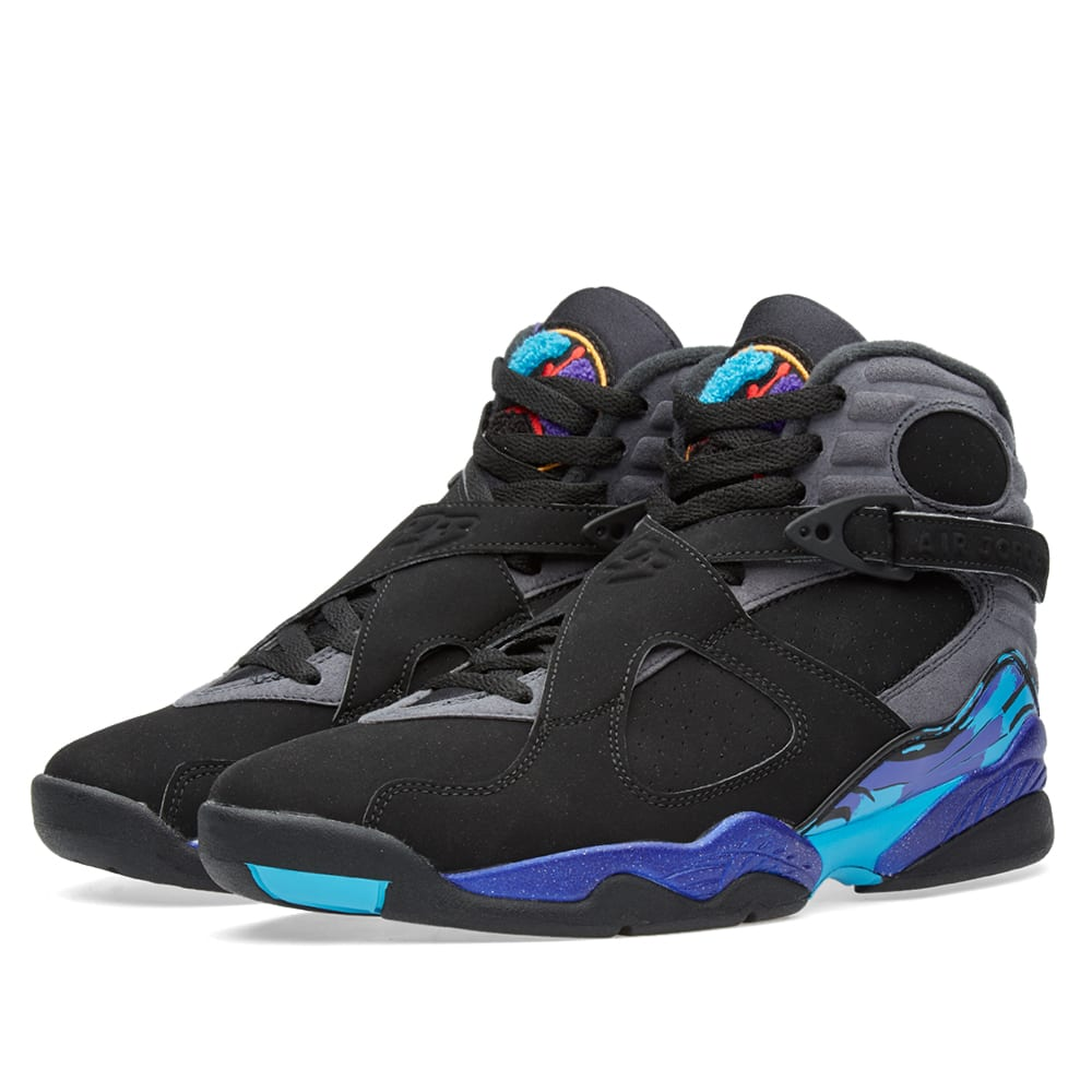 Nike air jordan viii retro aqua black amp bright concord