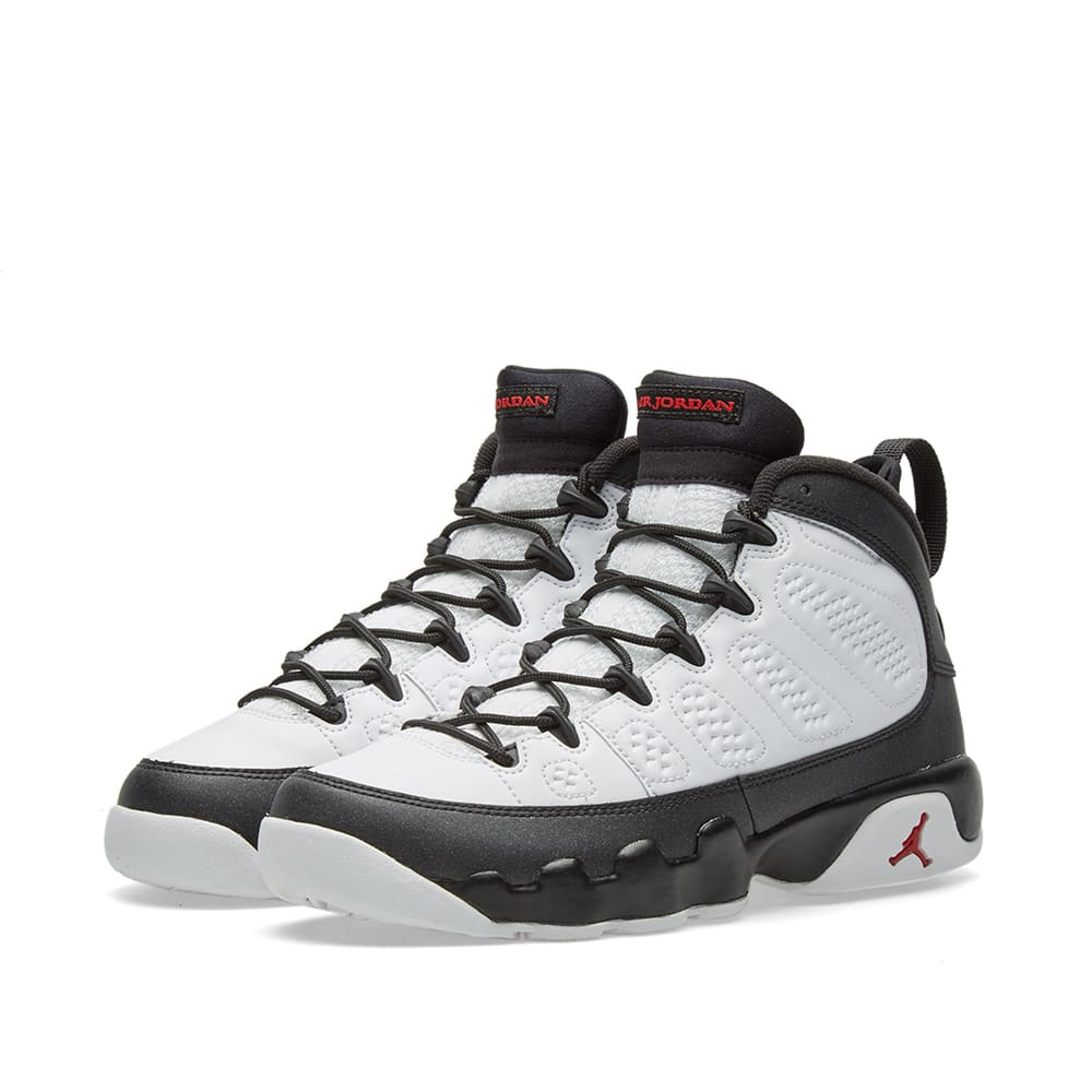 new style ce03e 0ba7f Nike Air Jordan 9 Retro BG  Space Jam  White, True Red   Black   END.