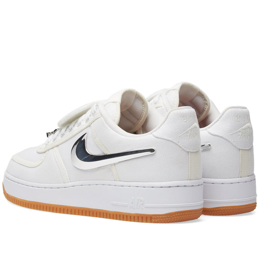 99116d640482d5 Nike Air Force 1 Low  Travis Scott  Triple White