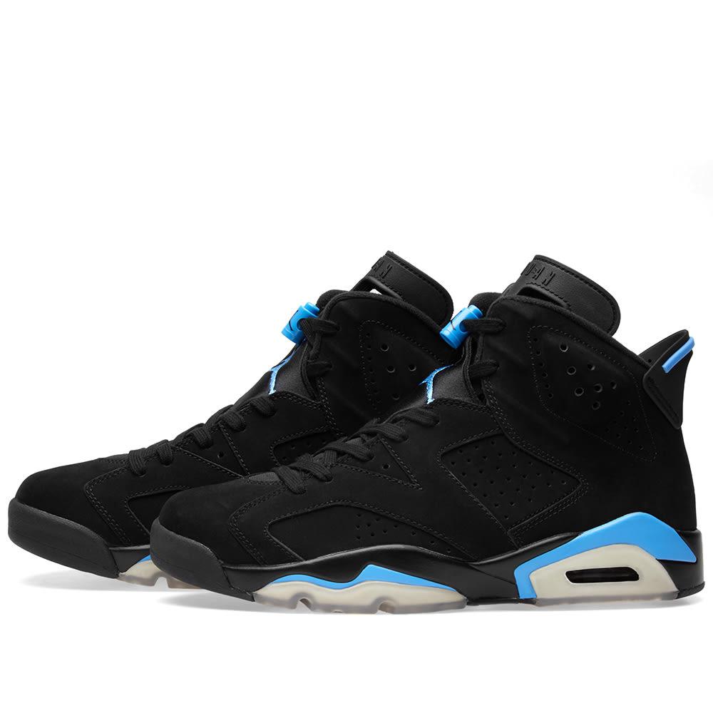 9678efbc736e Nike Air Jordan 6 Retro UNC Black   University Blue