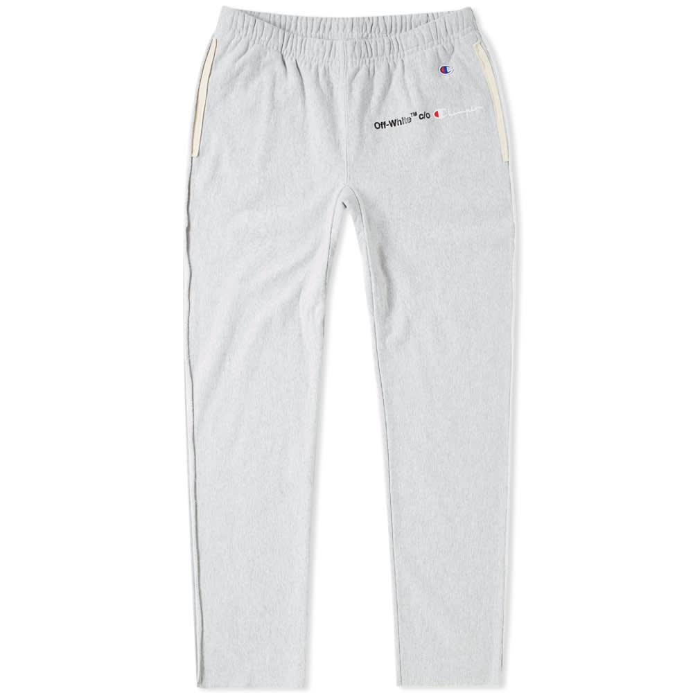 ab4a5ee702e40b Off-White x Champion Sweat Pant Grey & White | END.