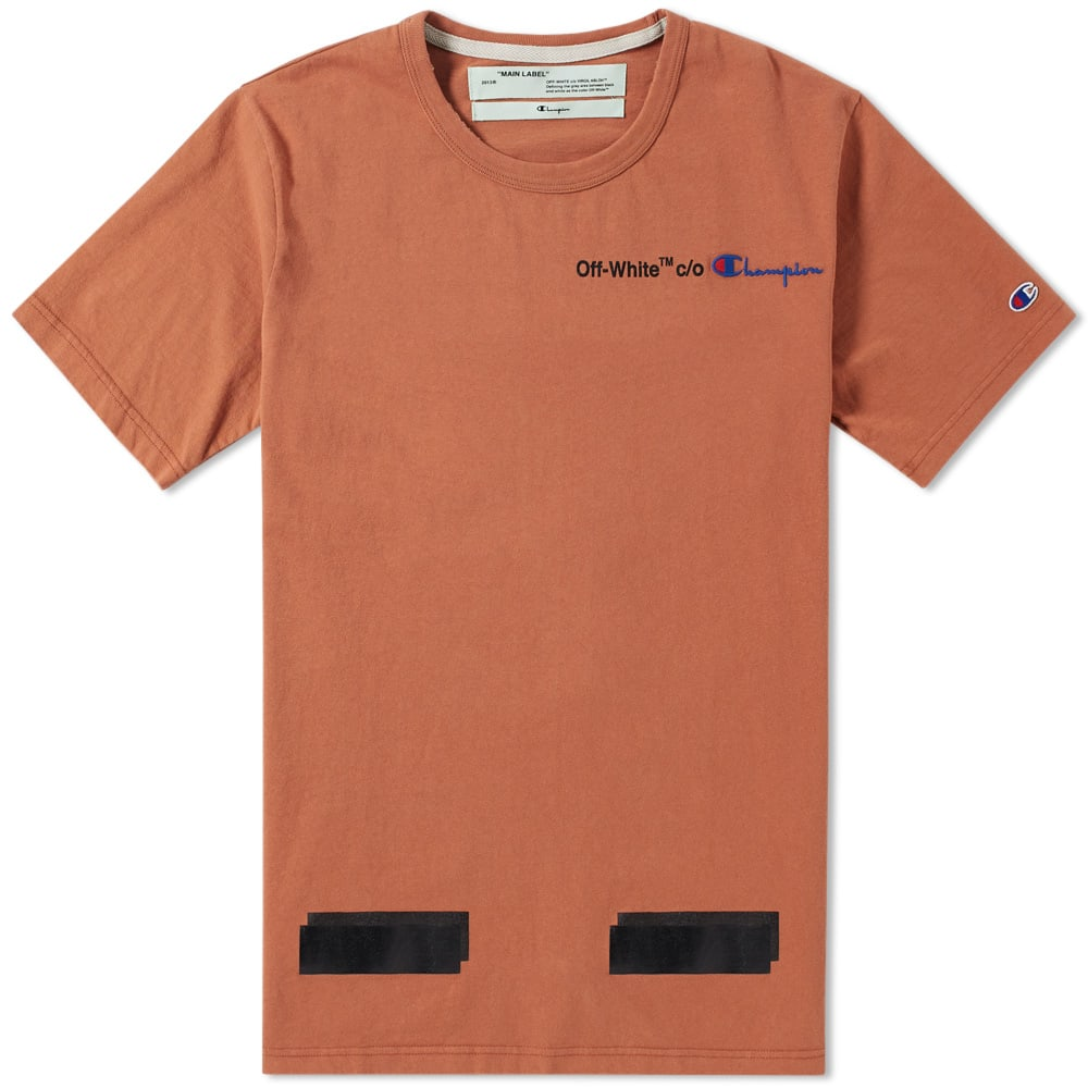 3f2016d1aa4f Off-White x Champion Tee Brown & Black | END.