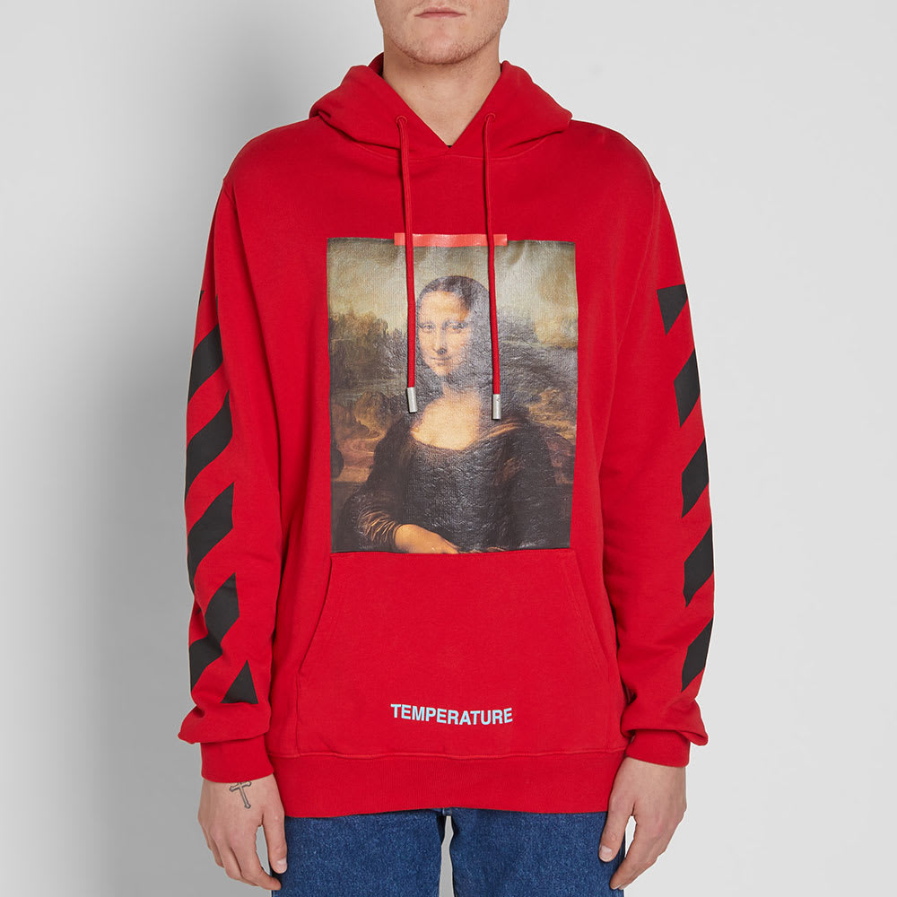 Off-White Diagonal Monalisa Hoody Red