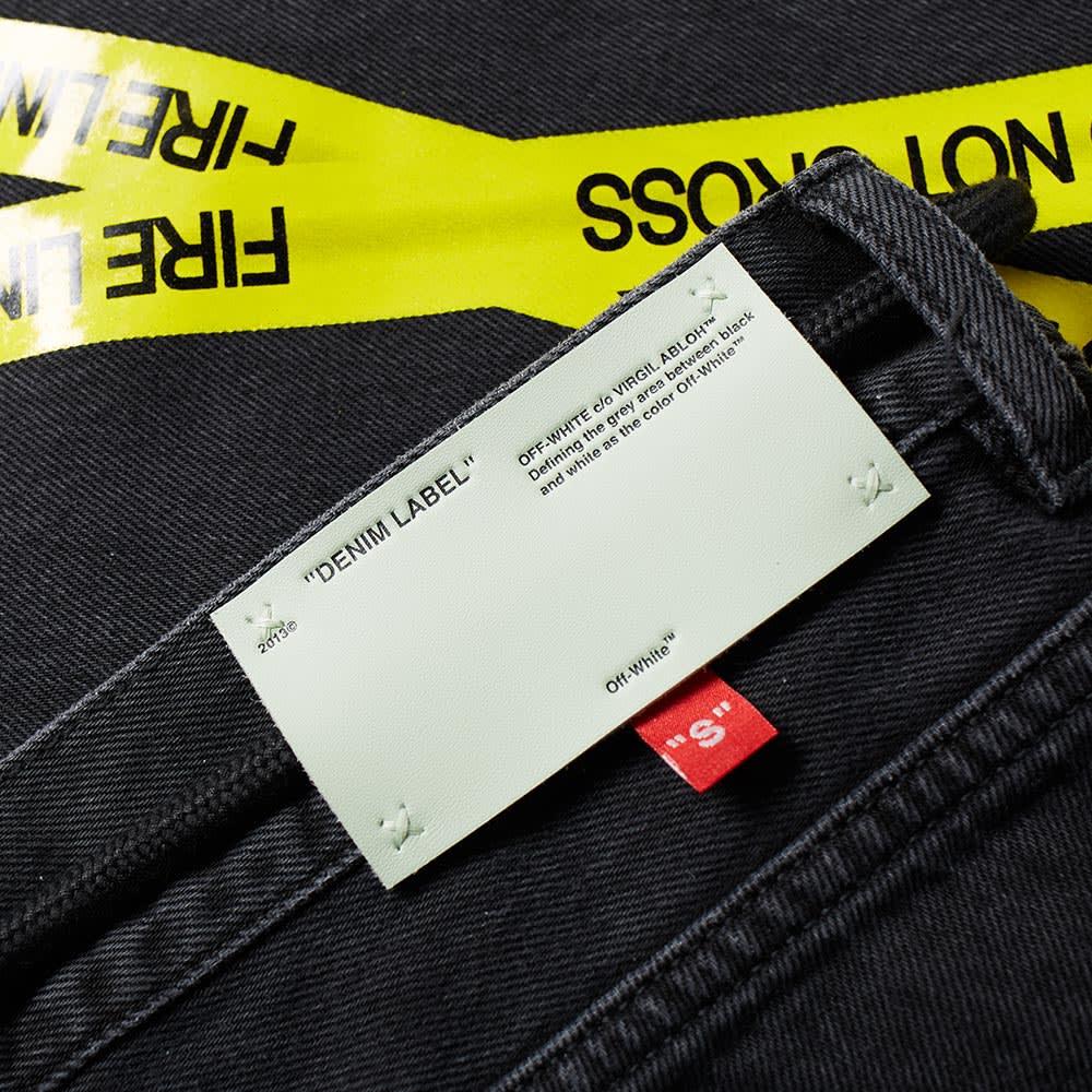 e593d4f1551a Off-White Firetape 5 Pocket Slim Jean Black   Yellow