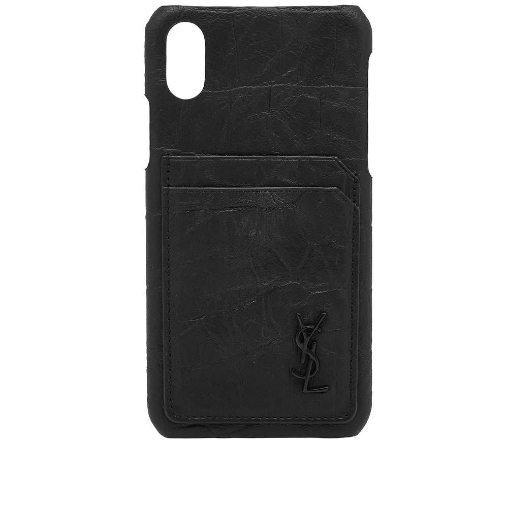 size 40 8fc3c db04c Saint Laurent Logo Monogram iPhone X Case