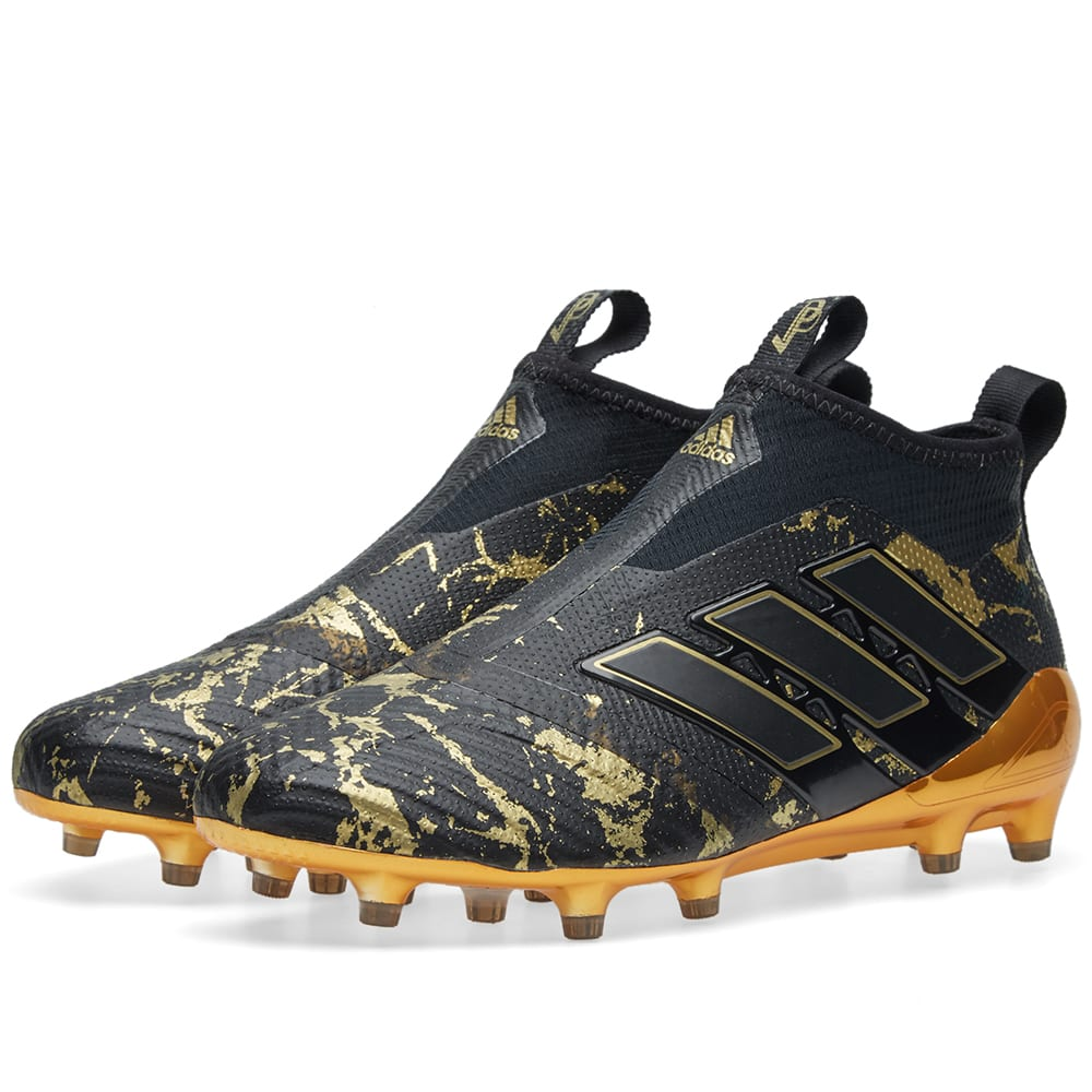 wholesale dealer 6a983 c7dc8 adidas Ace 17+ PureControl Primeknit Paul Pogba FG Football Boots Black/Gold
