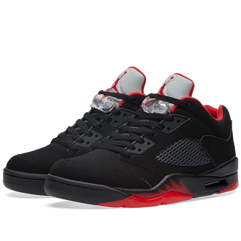 Nike Air Jordan 5 Retro Low 'Alternate' (Black & Gym Red)