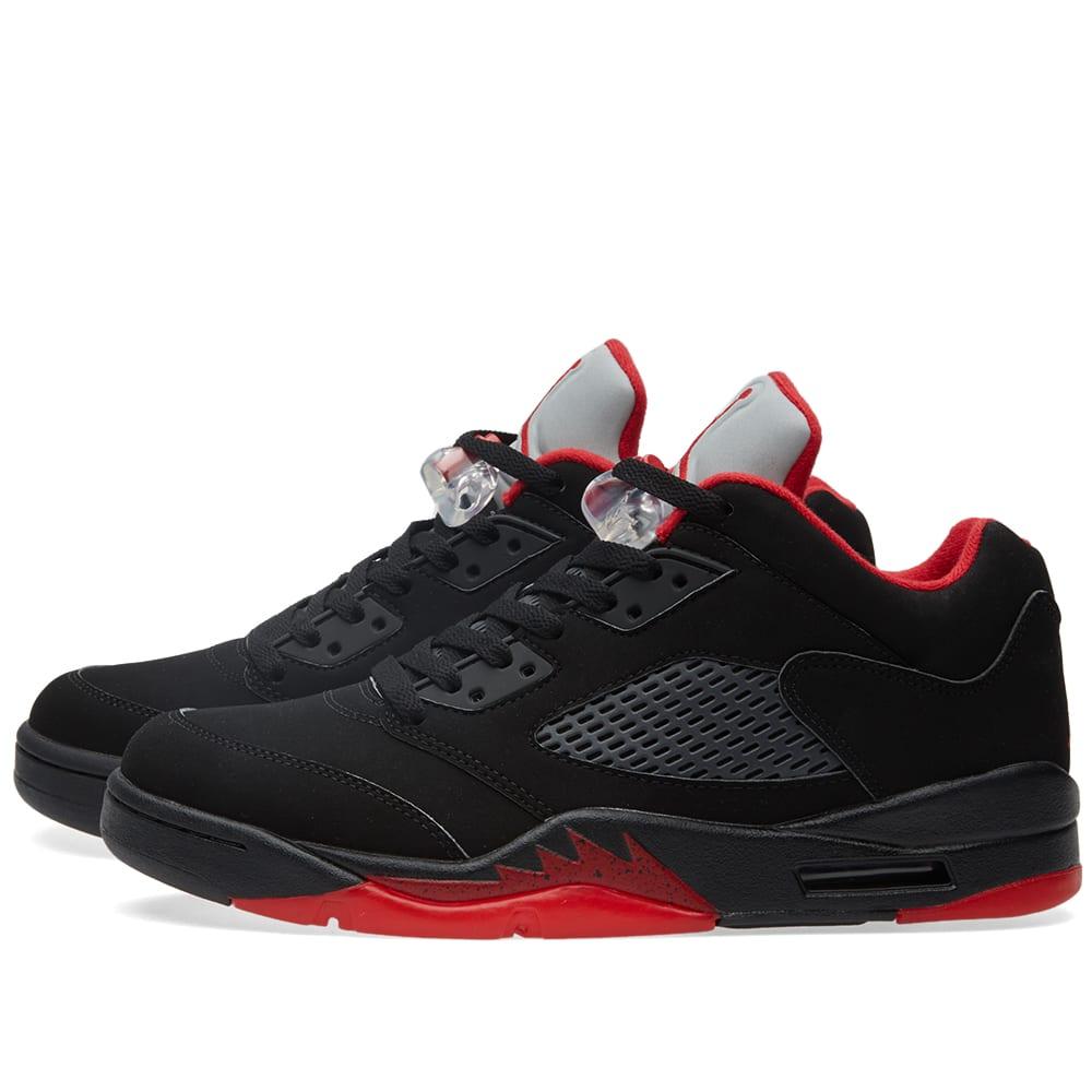 1f5076ce79b22c Nike Air Jordan 5 Retro Low 'Alternate' Black & Gym Red | END.
