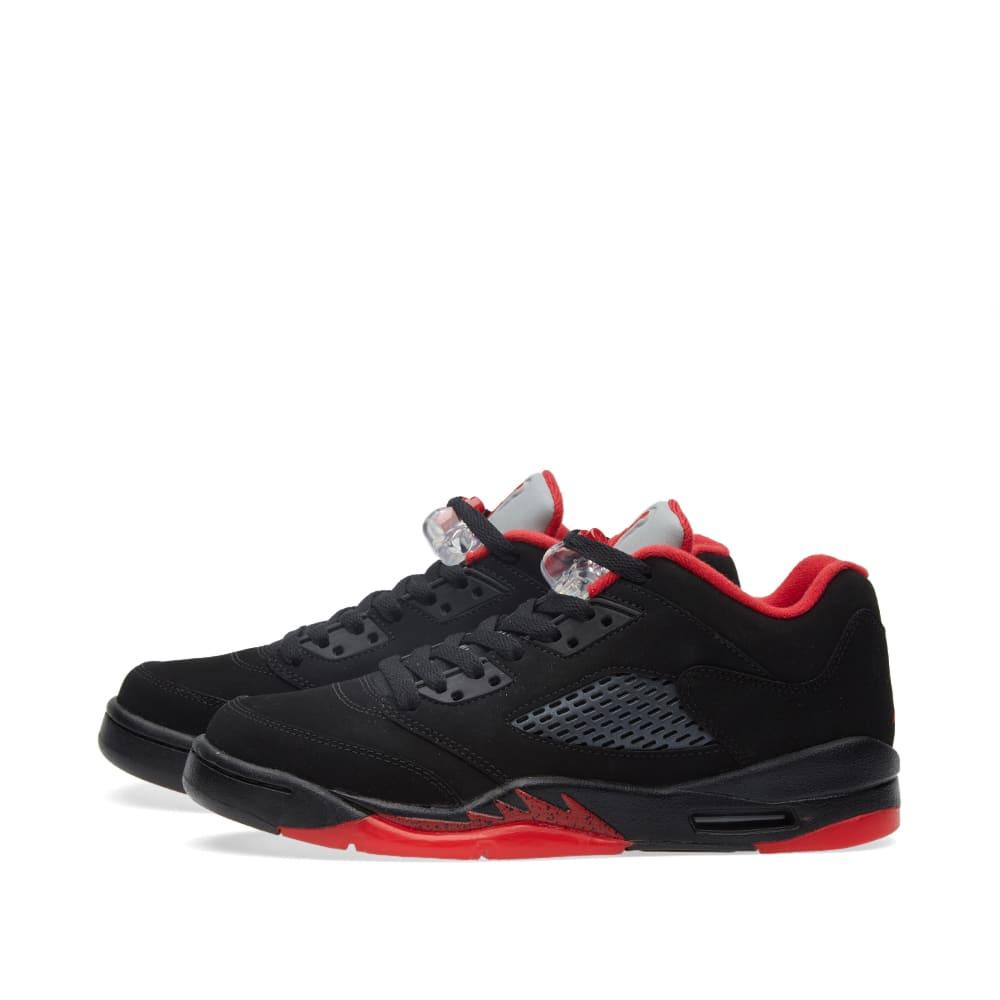 reputable site 5c46f aea9a Nike Air Jordan 5 Retro Low GS  Alternate  Black   Gym Red   END.