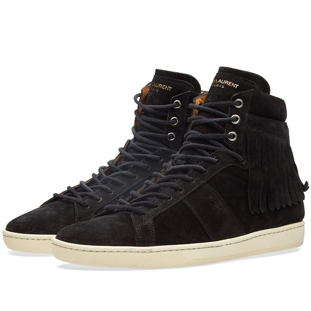 Saint Laurent Fringe High Top Sneaker
