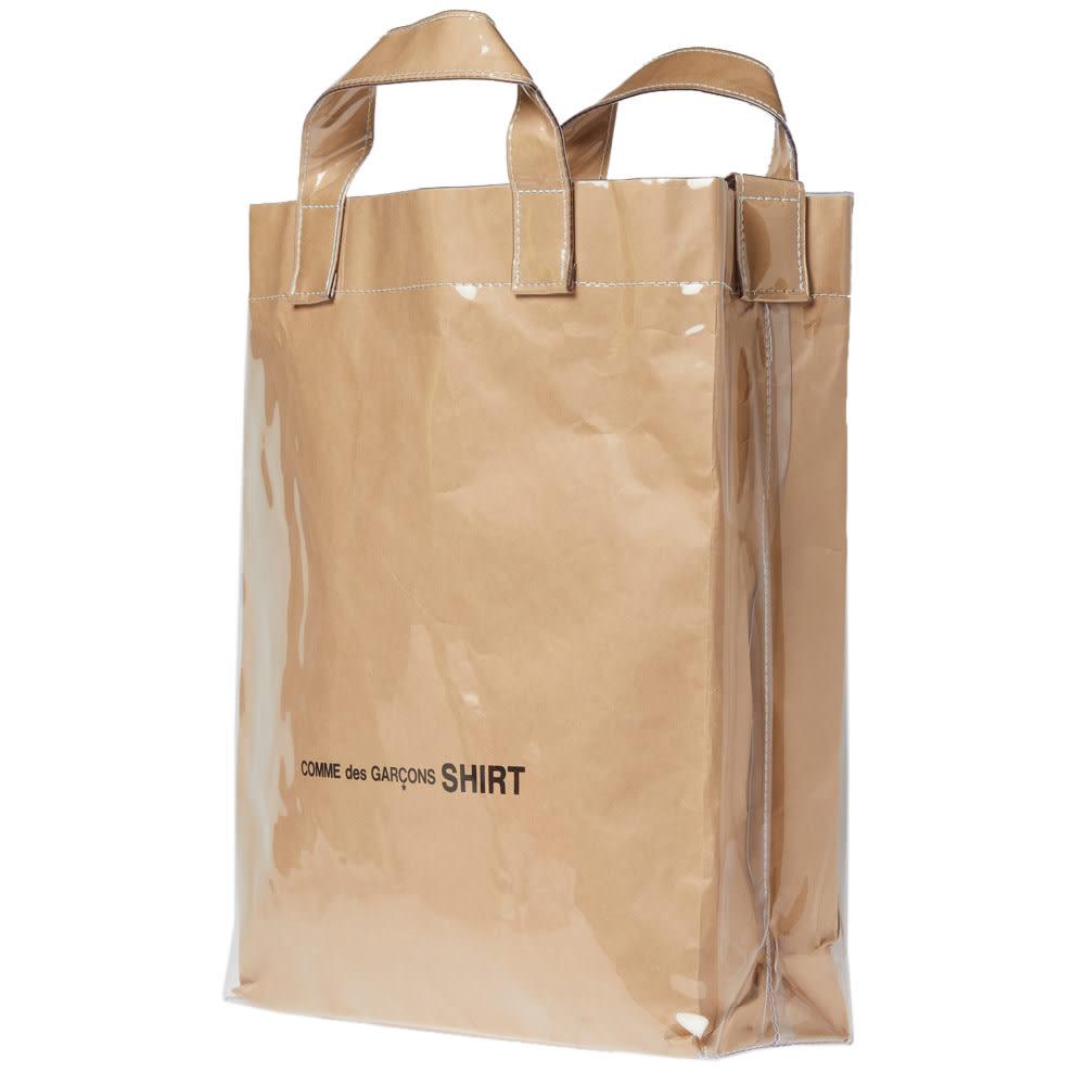 e19bd8194dae Comme des Garcons SHIRT PVC Kraft Paper Messenger Tote Bag Kraft | END.