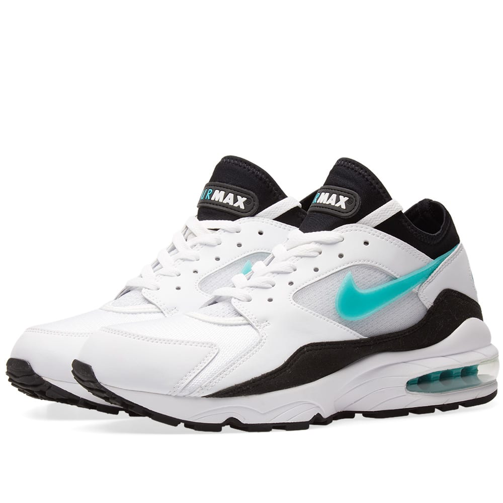huge selection of 07da9 d324e Nike Air Max 93 White, Sport Turquoise   Black   END.