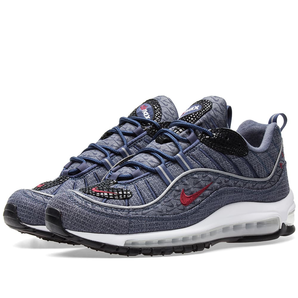 Air Max 98 Mesh And Leather Sneakers - MultiNike CrPYcF
