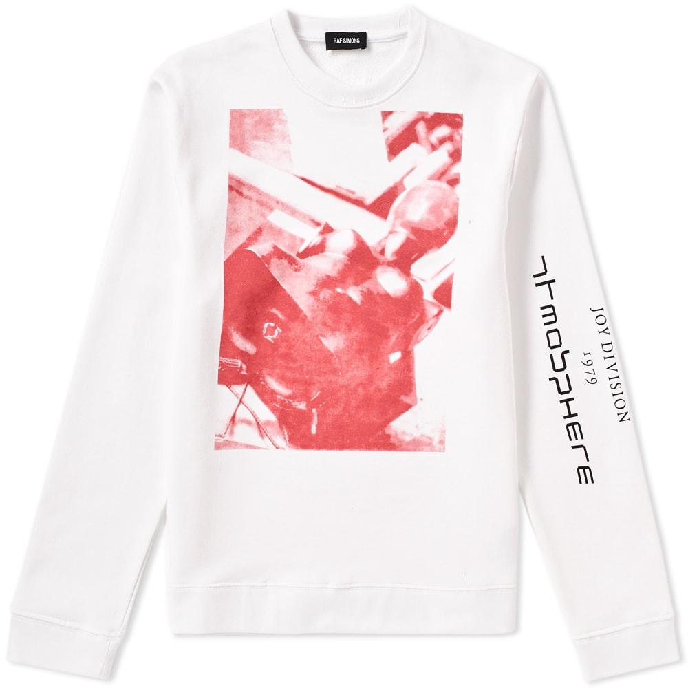 RAF SIMONS Oversized Printed Loopback Cotton-Jersey Sweatshirt in White