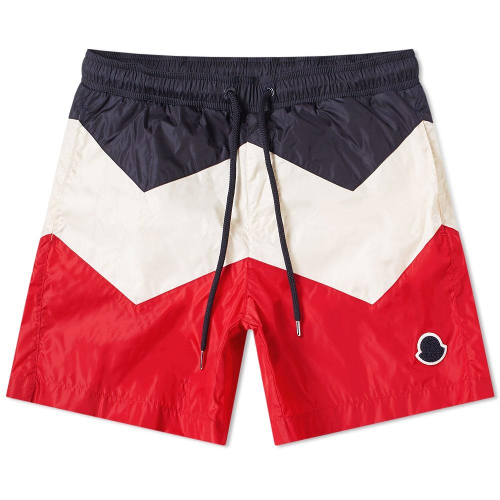 9a958d41c6 Moncler Logo Nylon Swim Short Red, White & Navy | END.