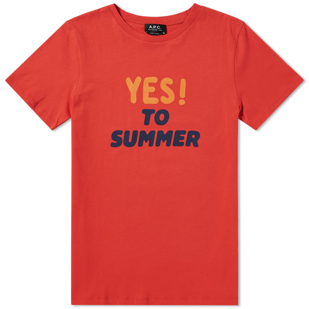 656cb1e585fc A.P.C. YES! TO SUMMER GRAPHIC T-SHIRT