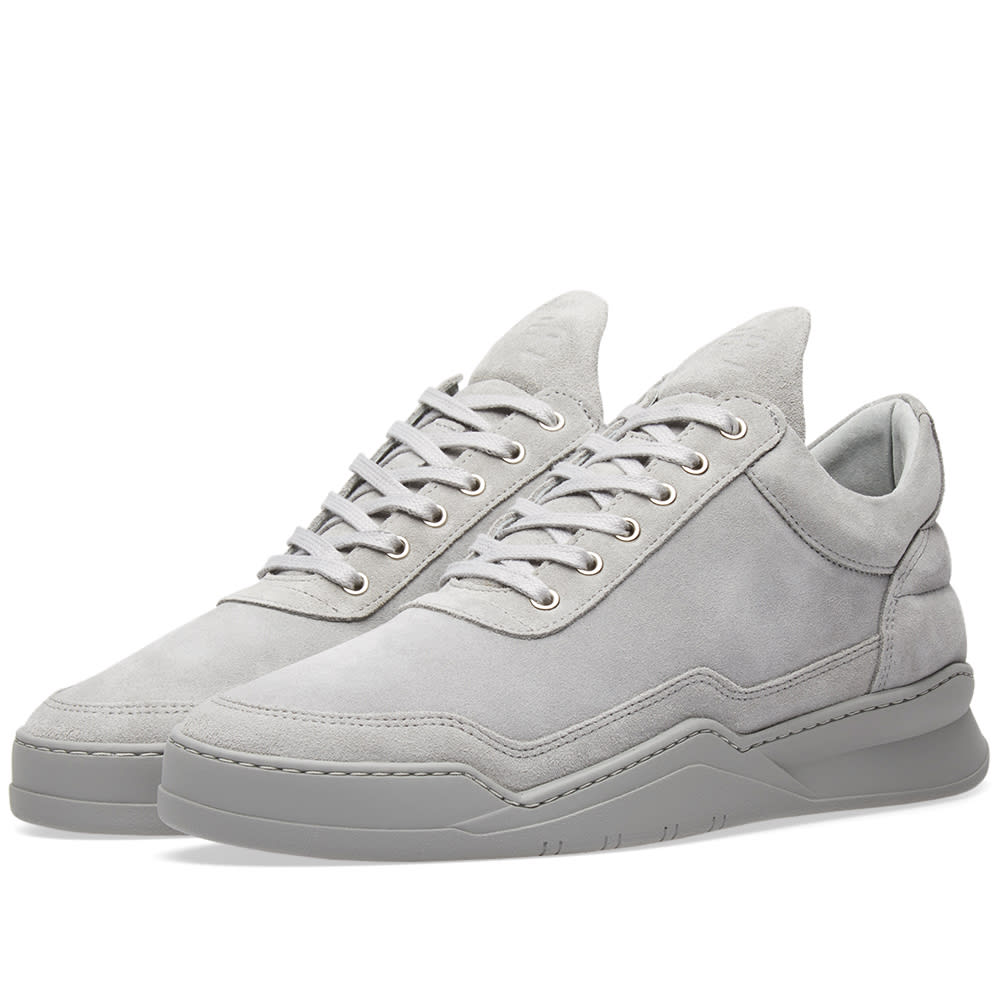 e0fc26a23ec7 Filling Pieces Low Top Sneaker Ghost Tone Cement Grey