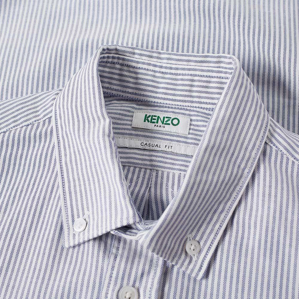 cea59d5f Kenzo Button Down Tiger Stripe Oxford Shirt Blue & White | END.