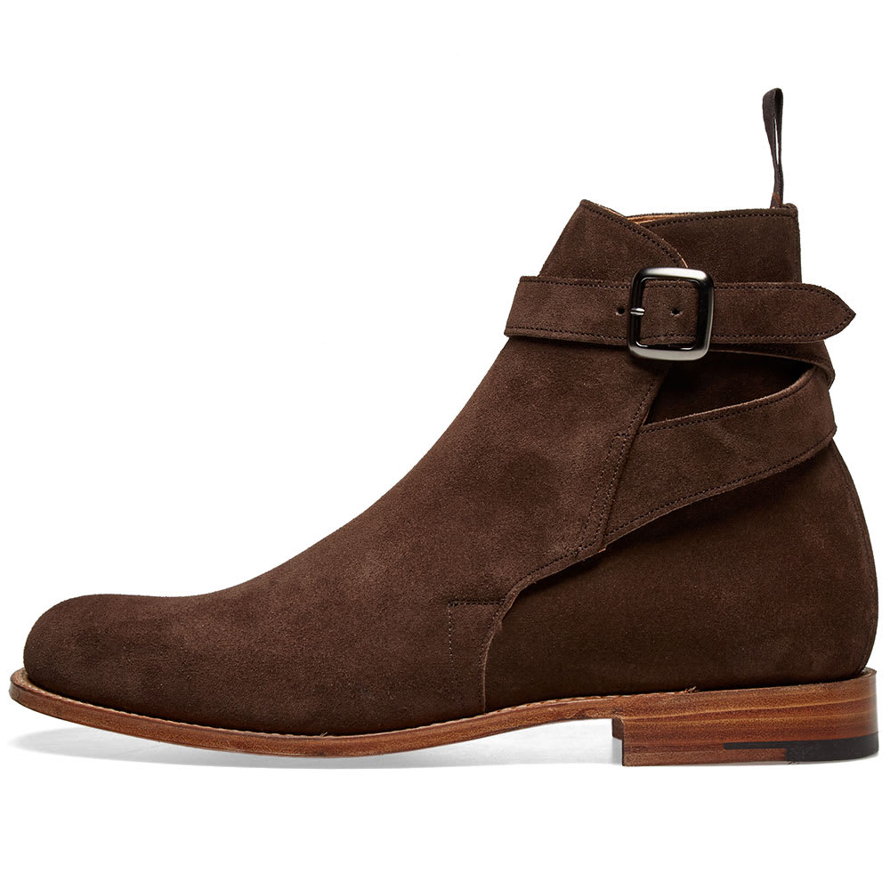 Berwick Jodhpur Suede Boot Dark Brown